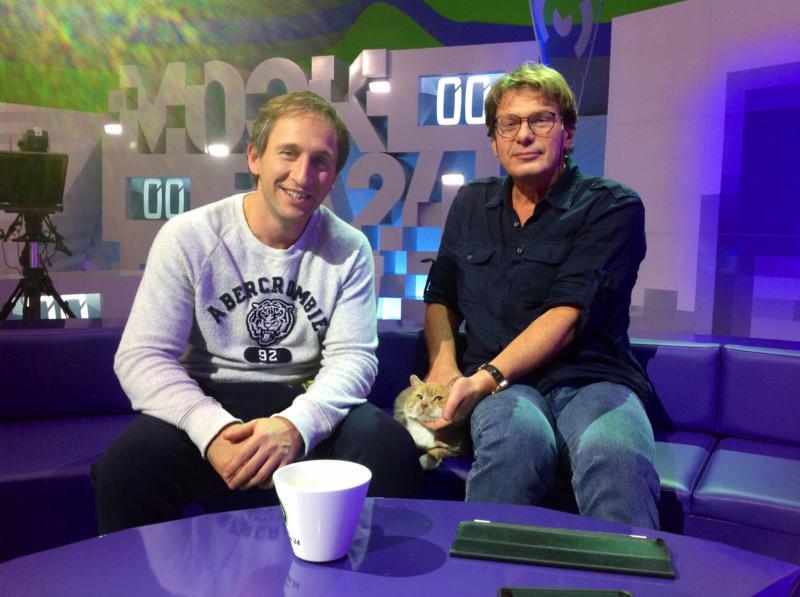 Оскар Кучера и бесхвостый (собака отгрызла) кот