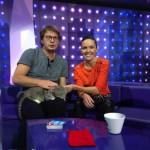 Настя Чернобровина и кот Борис