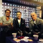 Олег Меньшиков и Сергей Землянский + кошка Красотка