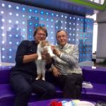 Николай Бурляев и наша кошка (2014 г.)