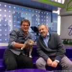 Андрей Быстрицкий и кошка Маруся (2015 год)