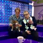 Геннадий Хазанов и кошка Муся (2015 год)